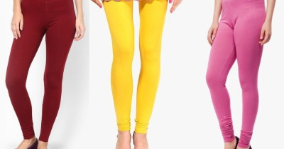 Pari Women's Maroon, Yellow, Purple Leggings