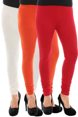 Paulzi Women's Red, White, Orange Leggings