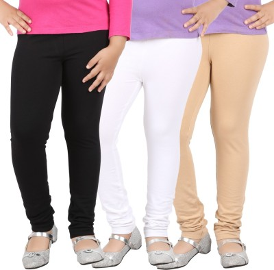 Avarnas Girl's White, Beige, Black Leggings