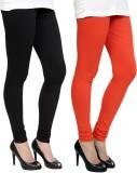 Pannkh Women's Orange, Black Leggings (P...