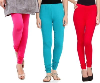 Sampoorna Collection Women's Red, Blue, Pink Leggings
