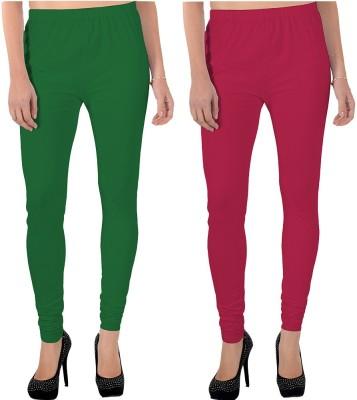 X-Cross Women's Green, Pink Leggings
