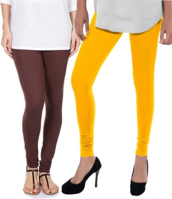 Sampoorna Collection Women's Brown, Yellow Leggings