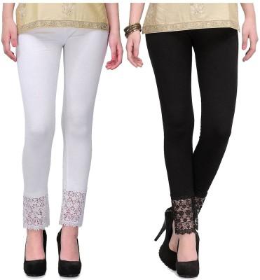 Hrithvi Women's Black, White Leggings