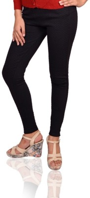 Vama Women's Black Jeggings