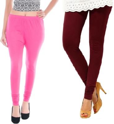 Colors More Women's Pink, Maroon Leggings