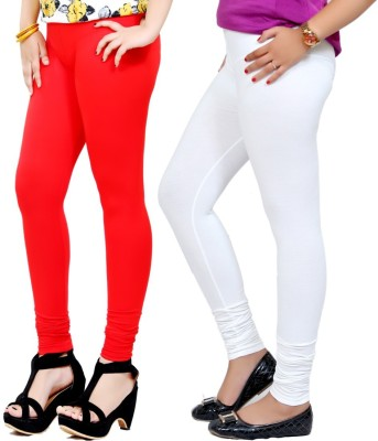 By The Way Women's Red, White Leggings