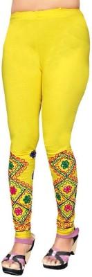 Heena Fashion Women's Yellow Leggings