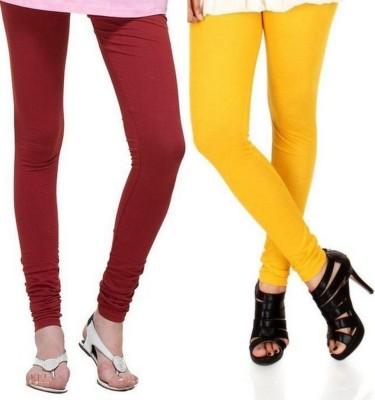 Zadine Women's Maroon, Orange Leggings