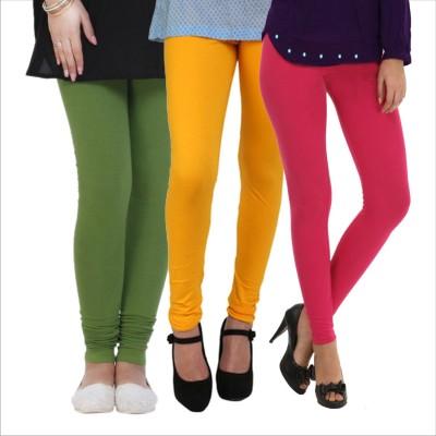 Melisa Women's Green, Yellow, Pink Leggings