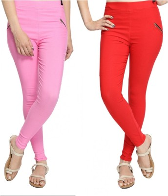 StyloFashionGarments Women's Pink, Red Jeggings