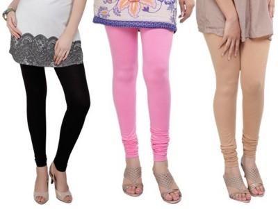Bembee Women's Black, Pink, Beige Leggings