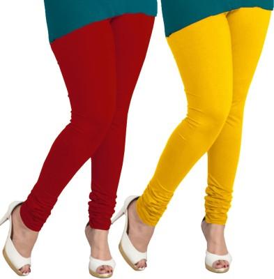 I-Diva Women's Red, Yellow Leggings