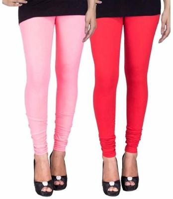 Ayesha Fashion Women's Pink, Red Leggings