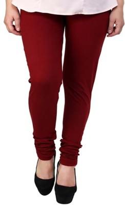 lycra Women's Maroon Leggings