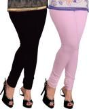 Navyamall Women's Black, Pink Leggings (...