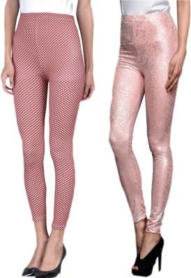 indian street fashion Women's Maroon, Pink Leggings