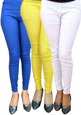 Magrace Women's Blue, Yellow, White Jeggings