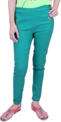 Krazzy Collection Women's Green Jeggings