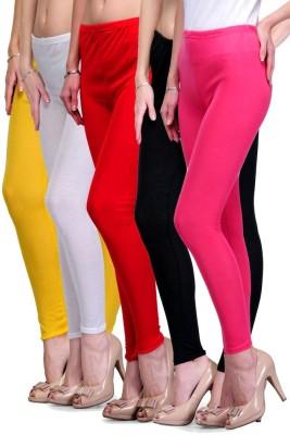 Rowena Women's Yellow, White, Red, Black, Pink Leggings