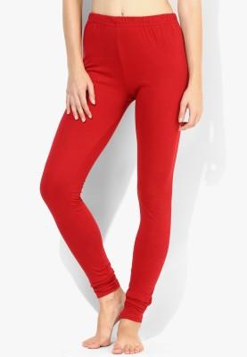 Red Rose Women's Red Leggings