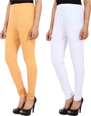 Xposé Women's Beige, White Leggings