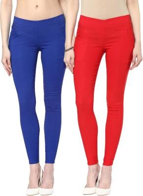 Zea-Al Women's Blue, Red Jeggings