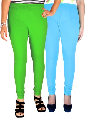 Dolphin Women's Light Green, Light Blue Leggings