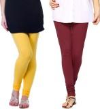 Famaya Gold Women's Yellow, Maroon Leggi...