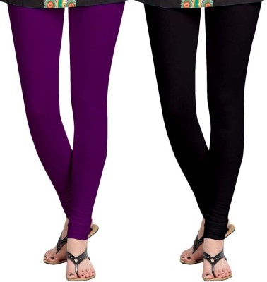 Aaradhyaa Women,s Black, Purple Leggings