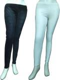 Miraaya Women's Black, White Jeggings (P...