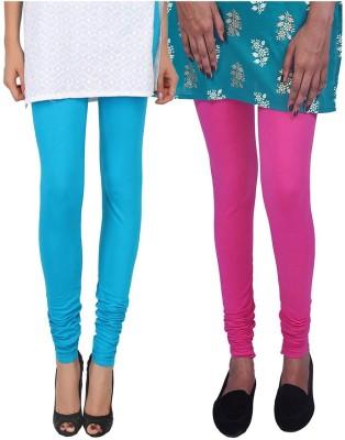 Womens Cottage Women's Light Blue, Pink Leggings