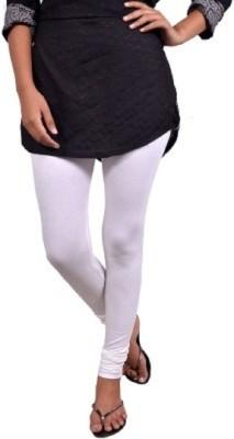 Saanvee Girl's White Leggings