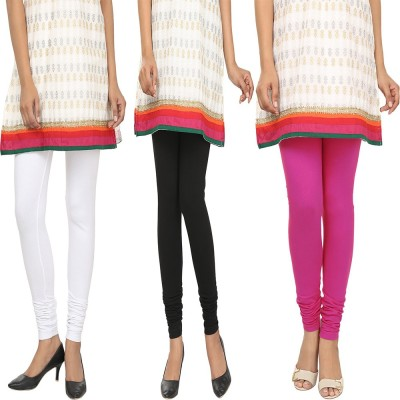 Agrima Fashion Women's White, Black, Pink Leggings