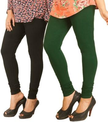 RIF Women's Black, Green Leggings