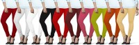 Lux Lyra Women's Red, White, White, Black, Red, Maroon, Pink, Light Green, Orange, Beige Leggings(Pack of 10) best price on Flipkart @ Rs. 3399