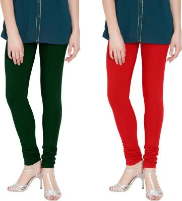 Nicewear Women's Green, Red Leggings
