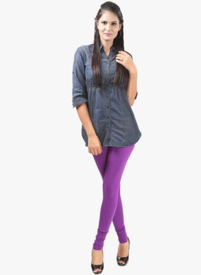 Designerkarts Women's Purple Leggings