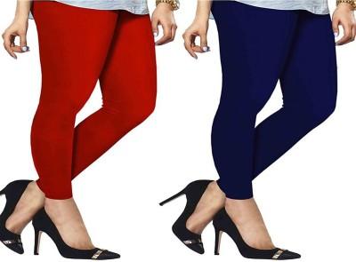 ambey shree trendz Women,s Red, Blue Leggings