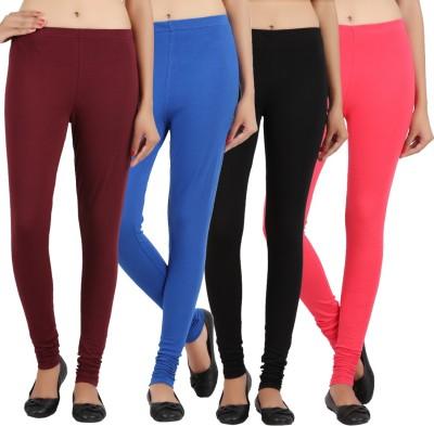 Sewn Women's Brown, Pink, Dark Blue, Black Leggings