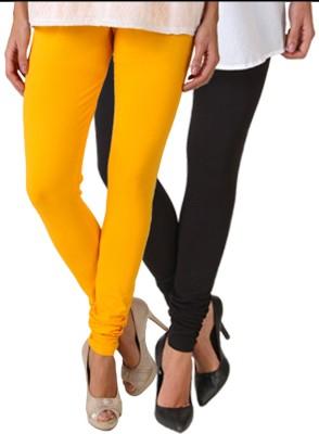 Fasense Women's Yellow, Black Leggings