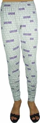 Bluedge Women's Grey, White Leggings