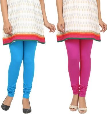 Agrima Fashion Women's Light Blue, Pink Leggings