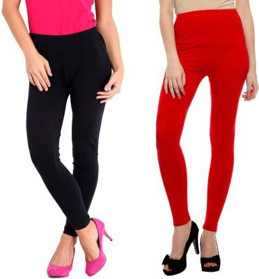 Elisha Women's Black, Red Leggings