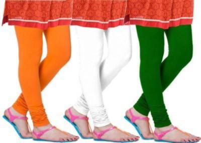 Abito Juniors Women's White, Orange, Green Leggings