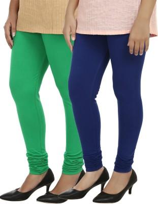 Day By Day Women's Blue, Green Leggings