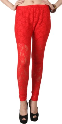 C/Cotton Comfort Women's Red Leggings