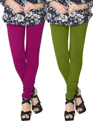 JV Wears Women's Pink, Green Leggings