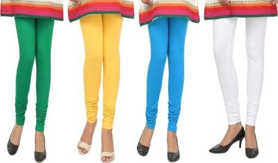 Agrima Fashion Women's Green, Yellow, Light Blue, White Leggings