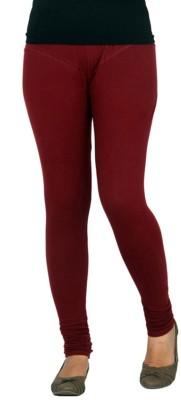 JUST CLIKK Women's Maroon Leggings